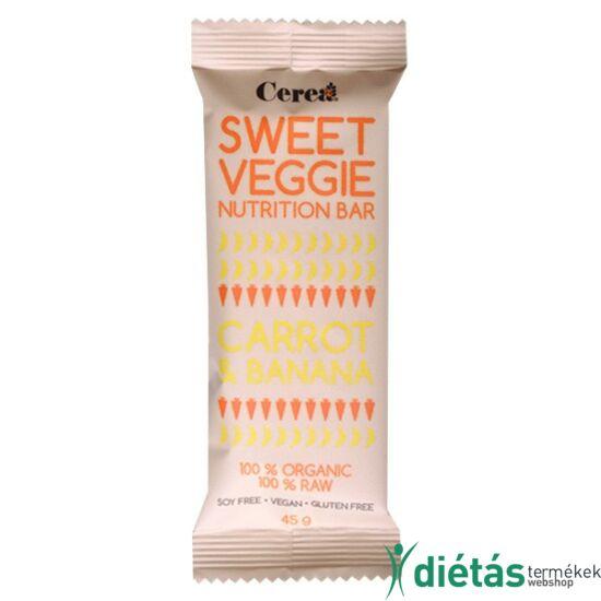 Sweetveggie nyers vegán gluténmentes szelet sárgarépa-banán (paleo) 45 g