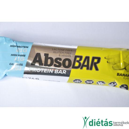 AbsoBar protein szelet banános (gluténmentes, vegán) 74g