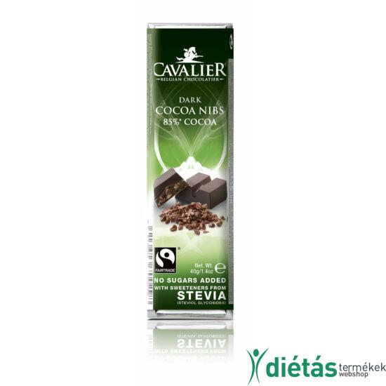 Cavalier étcsokoládé kakaódarabos 40 g