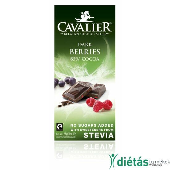 Cavalier bogyós étcsokoládé 85 g