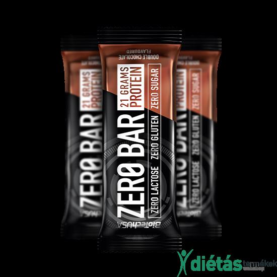 ZeroBar fehérjeszelet dupla csokoládé 50 g