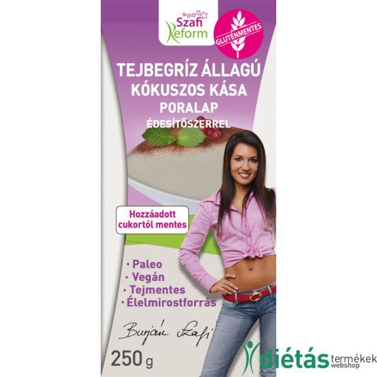 Szafi Reform tejbegríz állagú kókuszos kása poralap édesítőszerrel 250g (paleo, vegán, gluténmentes, tejmentes)