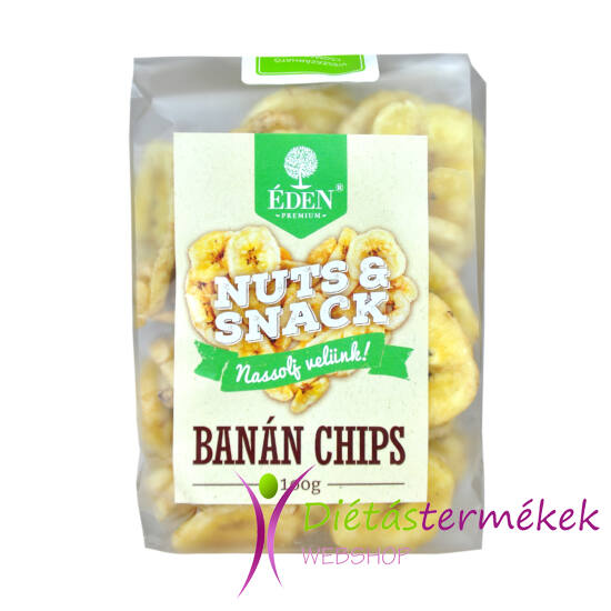 Éden prémium banán chips 100 gramm