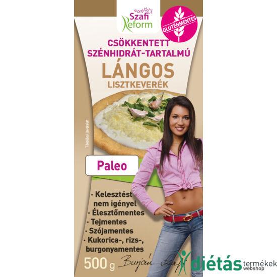 Szafi Reform Gluténmentes Csökkentett szénhidrát-tartalmú PALEO Lángos lisztkeverék 500 g