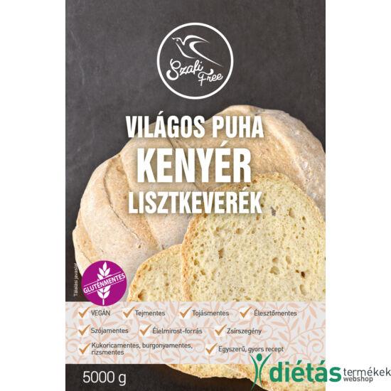 Szafi Free Világos puha kenyér lisztkeverék 5000g (gluténmentes, tejmentes, tojásmentes, maglisztmentes, élesztőmentes, szójamentes, kukoricamentes)