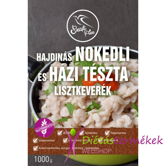Szafi Free Hajdinás Nokedli és házi tészta lisztkeverék 1000g (gluténmentes, tejmentes, tojásmentes,  zsírszegény)
