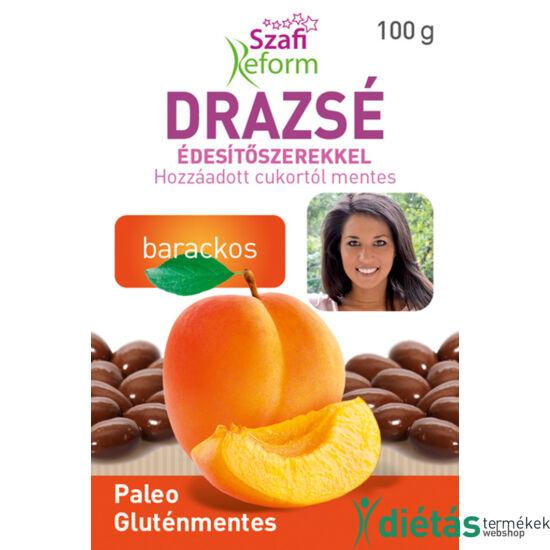 Szafi Reform Barackos drazsé kakaós bevonattal, édesítőszerekkel (gluténmentes, paleo) 100 g