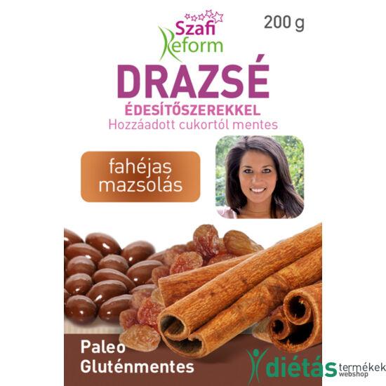 Szafi Reform Fahéjas mazsolás drazsé kakaós bevonattal, édesítőszerekkel (gluténmentes, paleo) 200 g