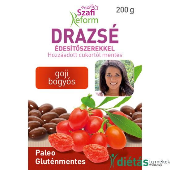 Szafi Reform Goji bogyós drazsé kakaós bevonattal, édesítőszerekkel (gluténmentes, paleo) 200 g
