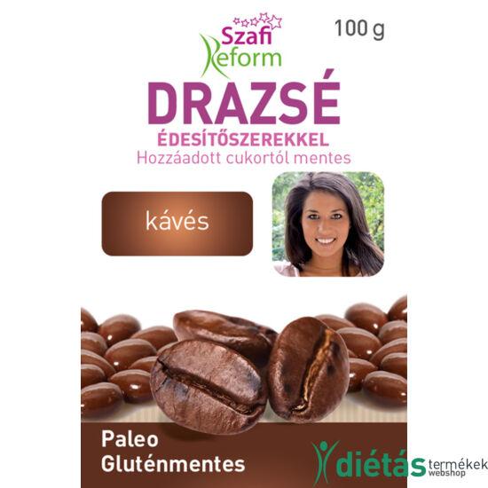 Szafi Reform Kávés drazsé kakaós bevonattal, édesítőszerekkel (gluténmentes, paleo) 100 g