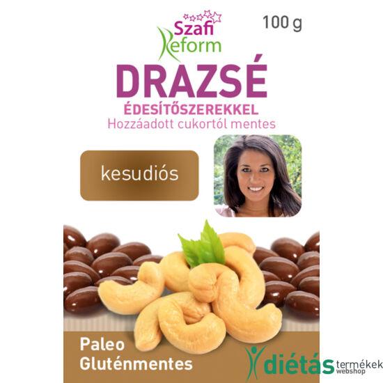 Szafi Reform Kesudiós drazsé kakaós bevonattal, édesítőszerekkel (gluténmentes, paleo) 100 g