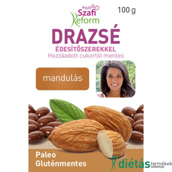 Szafi Reform Mandulás drazsé kakaós bevonattal, édesítőszerekkel(gluténmentes, paleo) 100g