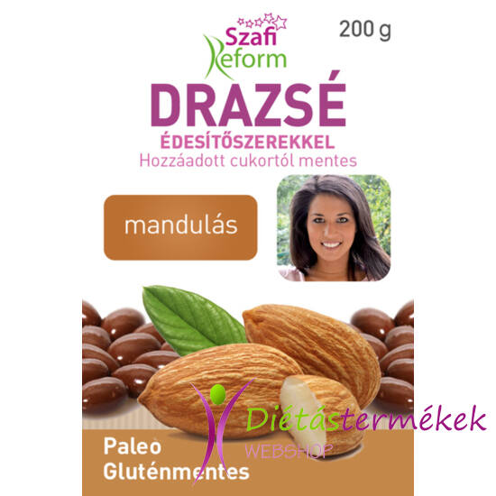 Szafi Reform Mandulás drazsé kakaós bevonattal, édesítőszerekkel (gluténmentes, paleo) 200 g