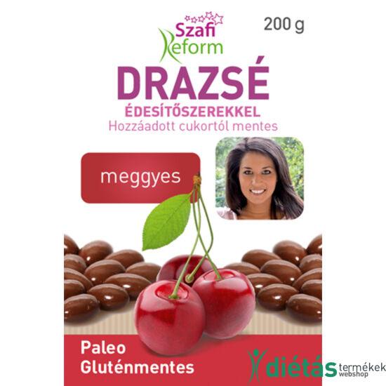 Szafi Reform Meggyes drazsé kakaós bevonattal, édesítőszerekkel (gluténmentes, paleo) 200 g