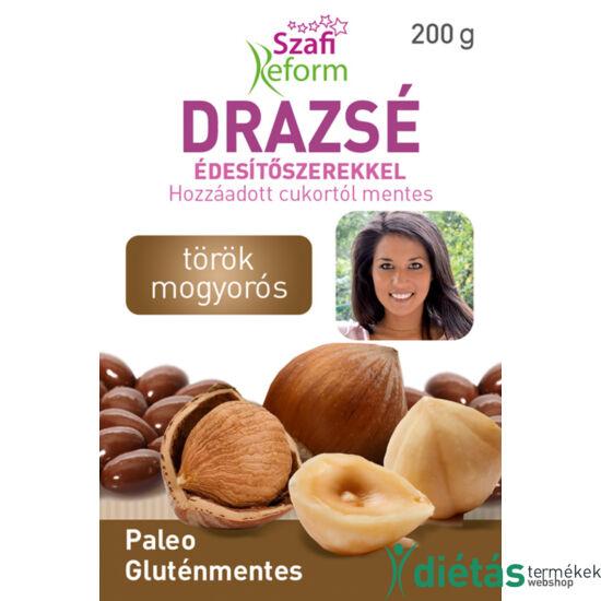 Szafi Reform Törökmogyorós drazsé kakaós bevonattal, édesítőszerekkel (gluténmentes, paleo) 200 g
