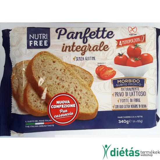 Nutri Free Panfette Integrale gluténmentes korpás szeletelt kenyér 340g