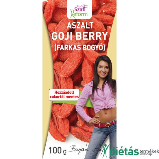 Szafi Reform Aszalt Goji berry (hozzáadott cukortól mentes) 100 g