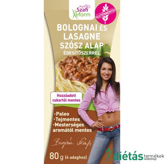 Szafi Reform bolognai és lasagne szósz alap édesítőszerrel (gluténmentes, paleo) 80g