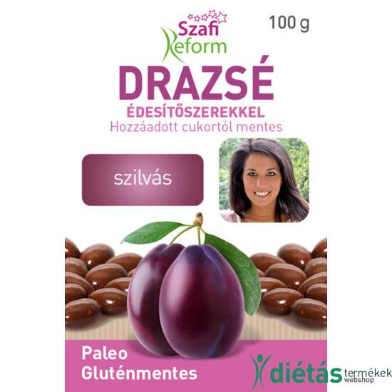 Szafi Reform Szilvás drazsé kakaós bevonattal, édesítőszerekkel (gluténmentes, paleo) 100 g
