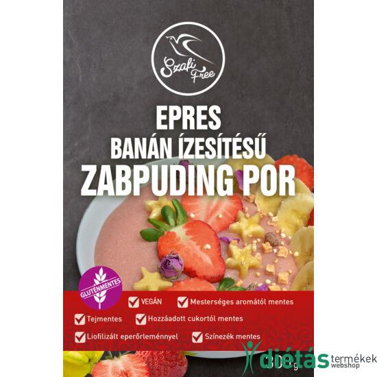 Szafi Free epres, banán ízesítésű zabpuding por (gluténmentes, tejmentes, tojásmentes) 300 g
