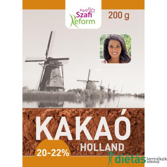 Szafi Reform Holland kakaópor (20-22% kakaóvaj tartalom) 200g
