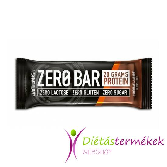 BIOTECH ZeroBar csokoládé-karamell 50 g