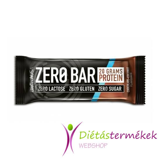 BIOTECH ZeroBar csokoládé-kókusz 50 g