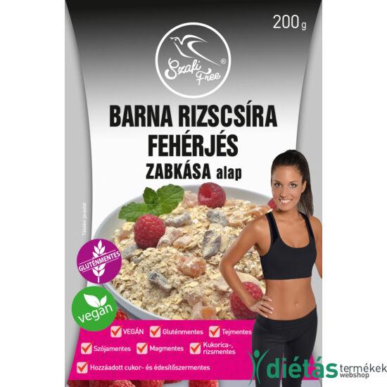 Szafi Free Barna rizscsíra fehérjés zabkása alap (gluténmentes, tejmentes, cukormentes, vegán) 200g