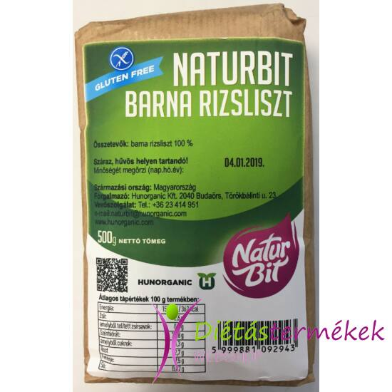Naturbit Gluténmentes Barna Rizsliszt 500 g