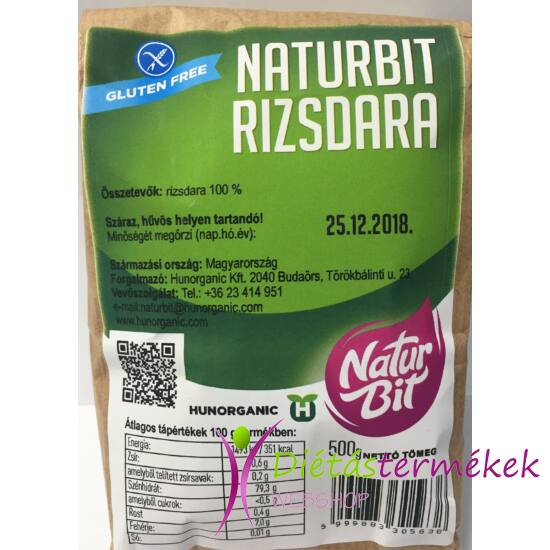 Naturbit Gluténmentes Rizs dara 500 g