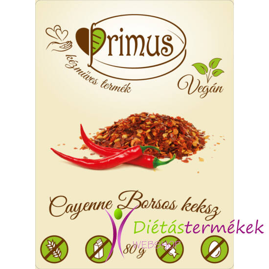 Primus paleo keksz cayenne borsos 80 g