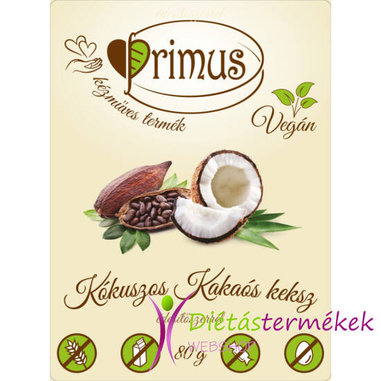 Primus Paleo keksz kakaós-kókuszos 80 g