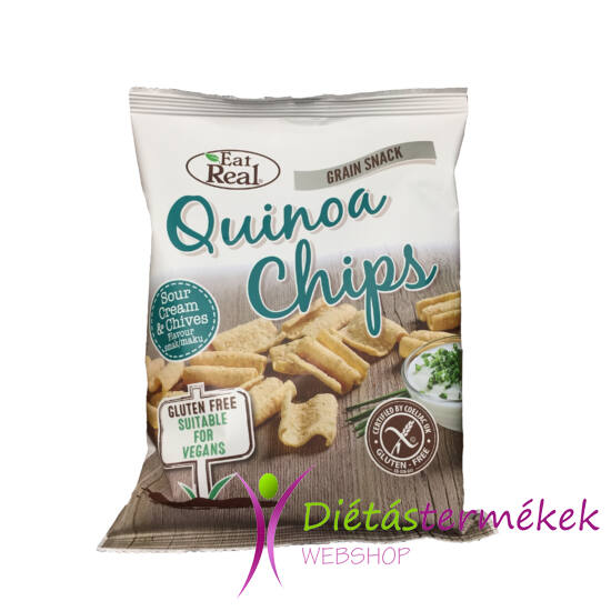 Eat real quinoa chips tejföl-snidling ízű 30g