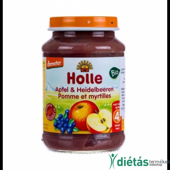 HOLLE BIO BÉBIÉTEL ALMA-FEKETEÁFONYA 190 g