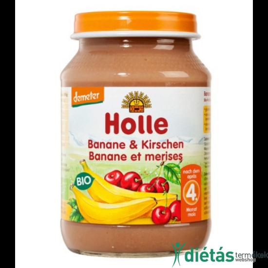 HOLLE BIO BÉBIÉTEL BANÁN CSERESZNYÉVEL 190 g