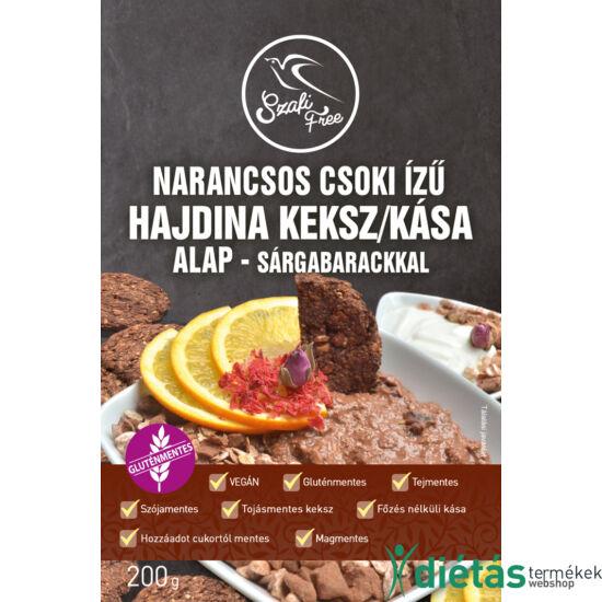 Szafi Free Narancsos csoki ízű hajdina kása / keksz alap - sárgabarackkal 200g (gluténmentes)
