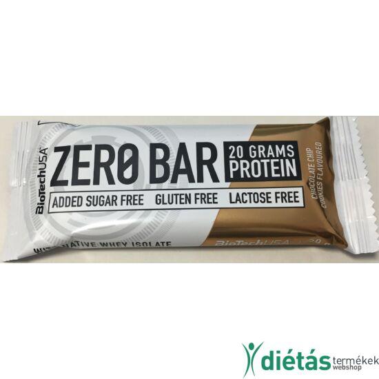 BIOTECH ZeroBar fehérje szelet chocolate chip cookies 50 g