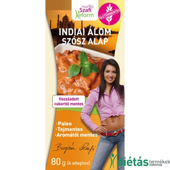 Szafi Reform Indiai álom szósz alap (tikka masala alap) (gluténmentes, tejmentes, mesterséges adalékanyagtól mentes) 80 g