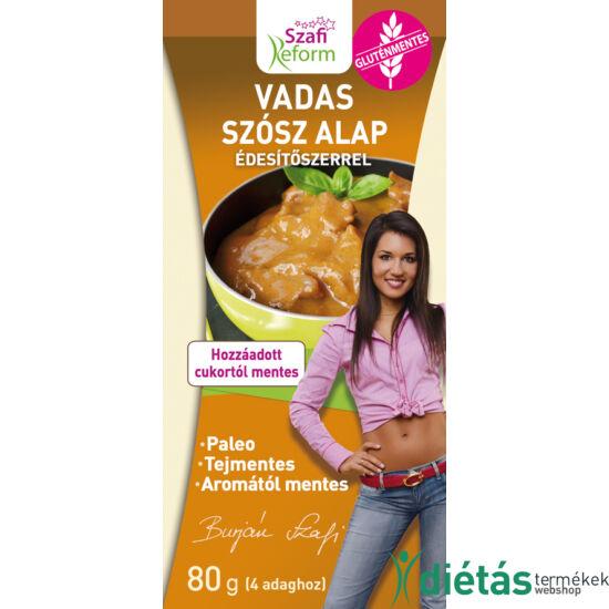 Szafi Reform Vadas szósz alap édesítőszerrel (gluténmentes, tejmentes, mesterséges adalékanyag mentes ) 80 g