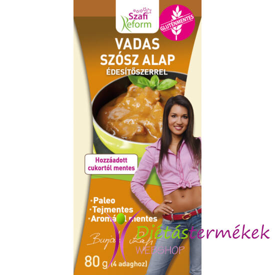 Szafi Reform Vadas szósz alap édesítőszerrel (gluténmentes, tejmentes) 80 g