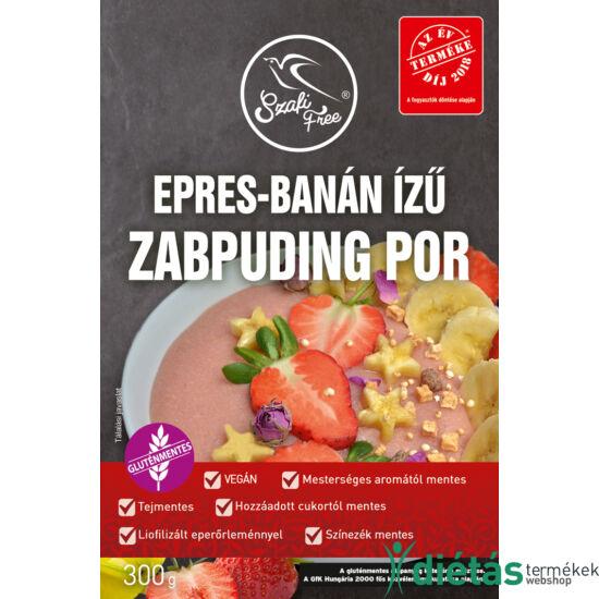 Szafi Free epres-banán ízű zabpuding por (gluténmentes, tejmentes) 300 g