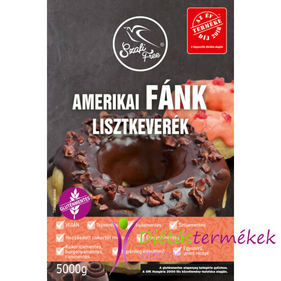 Szafi Free amerikai Fánk lisztkeverék (gluténmentes, tejmentes, tojásmentes, élesztőmentes) 5000 g