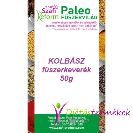 Szafi Reform Paleo Kolbász fűszerkeverék (gluténmentes) 50 g