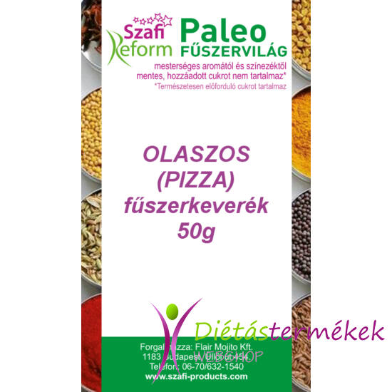 Szafi Reform Paleo olaszos (pizza) fűszerkeverék 50 g