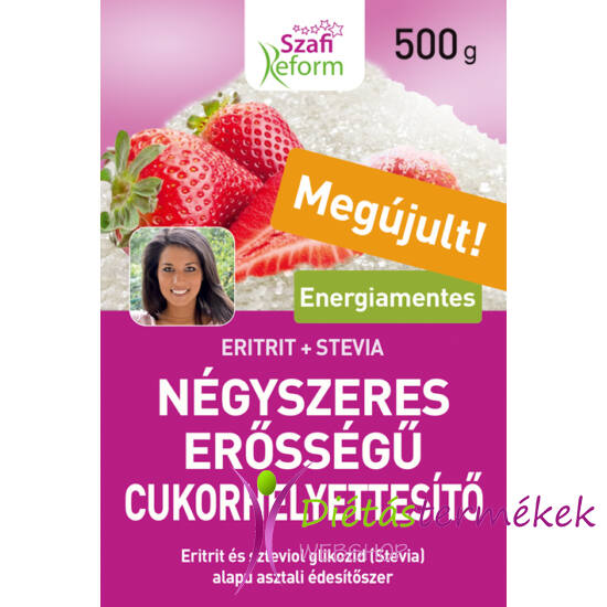 Szafi Reform Négyszeres erősségű édesítő (negyedannyi 1:4) 500 g