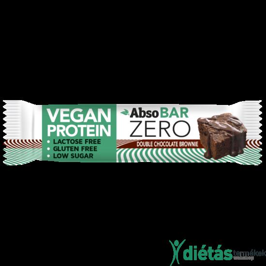 AbsoBar Zero duplacsokis brownie 40g