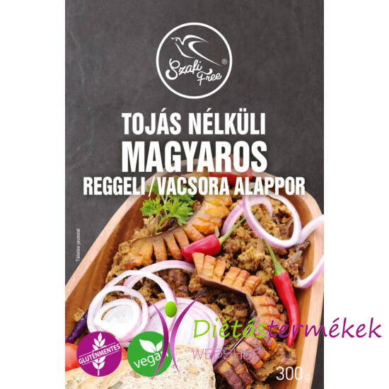 Szafi Free tojás nélküli magyaros reggeli / vacsora (gluténmentes, Vegán) alappor 300g