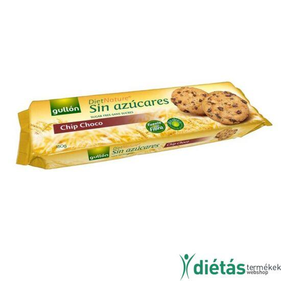 Gullon Chip Choco csokidarabos cukormentes keksz 150g
