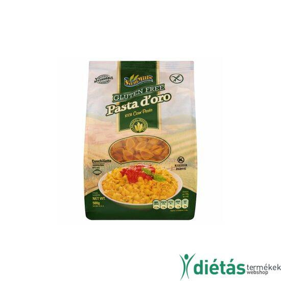 Pasta d'oro Gluténmentes, Tojásmentes KAGYLÓ Tészta 500 g