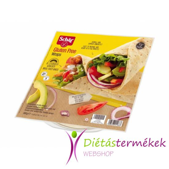 Schär Wraps (gluténmentes tortilla) 160 g